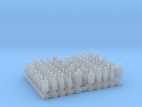Bottles 1:144 scale in Smooth Fine Detail Plastic