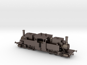 Double-ended Fairlie type steam locomotive in Polished Bronzed Silver Steel
