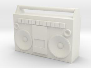 1/24 Scale BoomBox in White Natural Versatile Plastic