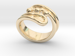 Threebubblesring 19 - Italian Size 19 in 14K Yellow Gold