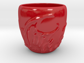 Fiery Espresso Shot Cup in Gloss Red Porcelain