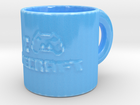 The Perfect Mug For Minecraft Players in Gloss Blue Porcelain