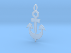 Anchor Symbol Pendant Charm in Smooth Fine Detail Plastic