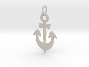 Anchor Symbol Pendant Charm in Natural Sandstone