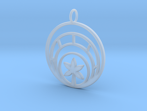 Plant In Circle Pendant Charm in Smooth Fine Detail Plastic