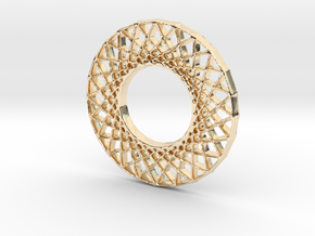 Modern Abstract Geometric Pendant in 14K Yellow Gold
