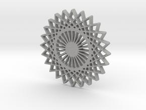 Stylized Sun Modern Pendant Charm in Aluminum