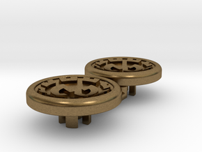 Dwemer spinner caps - Magnetic, Standard in Natural Bronze