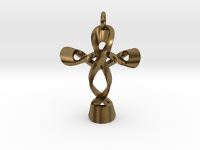 Cross CM Pendant in Raw Bronze