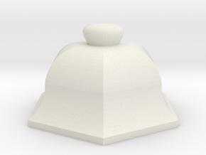 URN 0.8mm Cap in White Natural Versatile Plastic