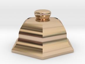 URN 0.8mm Cap in 14k Rose Gold Plated Brass