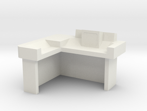 Commander's Desk S2 (Space: 1999) 1/30 in White Strong & Flexible