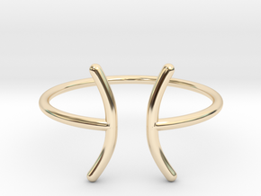 Picses in 14k Gold Plated Brass: 6 / 51.5