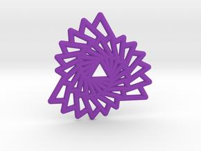 Triangle Vortex Pendant in Purple Processed Versatile Plastic