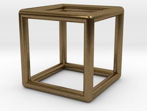 Cube Pendant in Natural Bronze