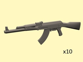 1/24 AK-47 assault rifles in Smoothest Fine Detail Plastic