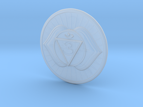 Third Eye chakra or Ajna in Smooth Fine Detail Plastic