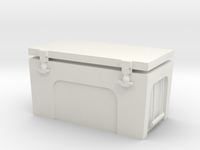 1/10 Scale Accessory Yeti Style Cooler in White Natural Versatile Plastic