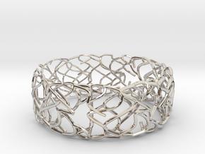 Sketch Bracelet in Rhodium Plated Brass