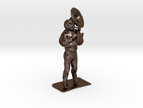 Tuba Dude 1-50 in Polished Bronze Steel