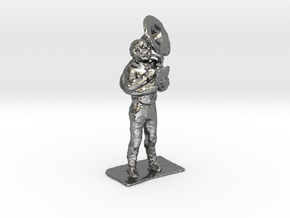 Tuba Dude 1-50 in Polished Silver