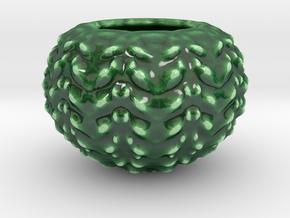 Hard Shred Cup/Vase/Planter in Gloss Oribe Green Porcelain