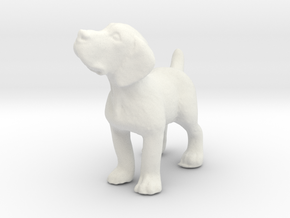 1/24 Puppy 03 in White Strong & Flexible