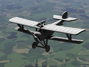 Nieuport 17 (Vickers + Lewis) in White Strong & Flexible: 1:144