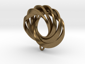 Coradeciem pendant with loop in Natural Bronze