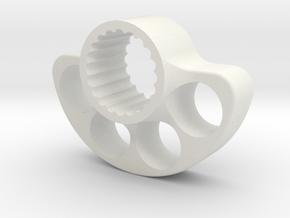SUPPORT LEST  AR-V1- Splined - for VP wheels -OD40 in White Strong & Flexible