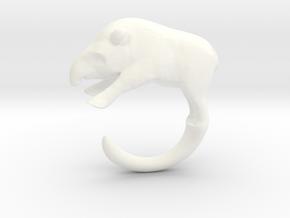 Tapir Ring in White Processed Versatile Plastic