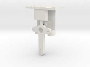 HO LQ Distant Signal Mechanism - Brass Post in White Natural Versatile Plastic