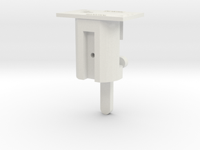 HO LQ Inverted Bracket Signal Mech - Brass Post in White Natural Versatile Plastic