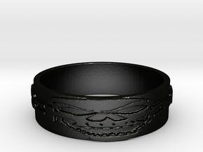 Skull Ring Size 11 in Matte Black Steel