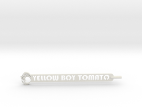Yellow Boy Tomato Plant Stake in White Natural Versatile Plastic