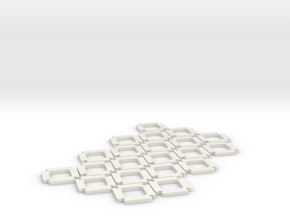 Truncated Octahedron Kit (1.5mm) in White Natural Versatile Plastic