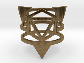 Zero Point Multiband Ring in Natural Bronze