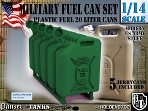 1-14 Military Fuel Can 5 Units in Green Processed Versatile Plastic