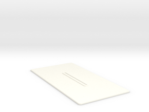 Lancia Delta Document holder in White Strong & Flexible Polished