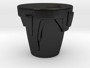 Medieval Helmet Cup in Matte Black Porcelain