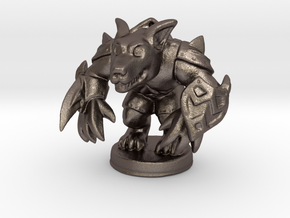 Werewolf Warlord (Chthonic Souls Edition) in Polished Bronzed Silver Steel