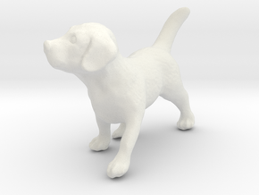 1/24 Puppy 02 in White Natural Versatile Plastic
