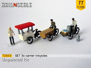 SET 3x Carrier tricycles (TT 1:120) in Smooth Fine Detail Plastic