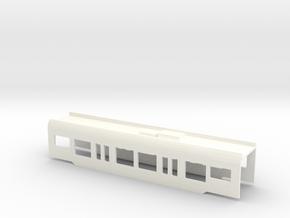 Flirt Mittelwagen Scale Tt A001 in White Processed Versatile Plastic