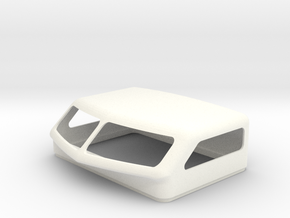 KW Aero 2 Style Bunk Cap For Stock Bunk in White Processed Versatile Plastic