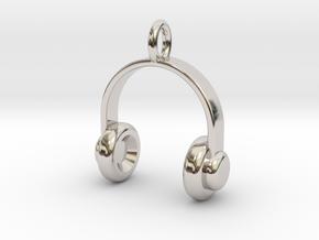 Headset - Pendant in Rhodium Plated