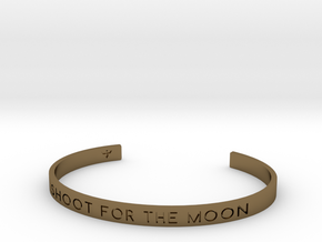 Shoot For The Moon Bracelet S-L in Polished Bronze: Small