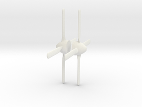 2xpropeller 1:48 in White Natural Versatile Plastic