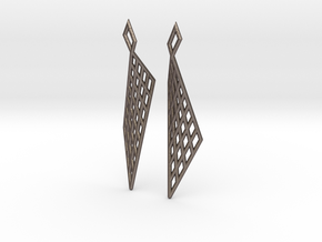 Mesh Earring Set in Polished Bronzed Silver Steel
