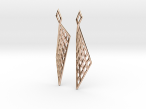 Mesh Earring Set in 14k Rose Gold Plated Brass